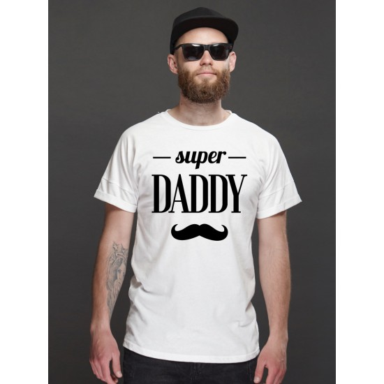 Super dad with mustage
