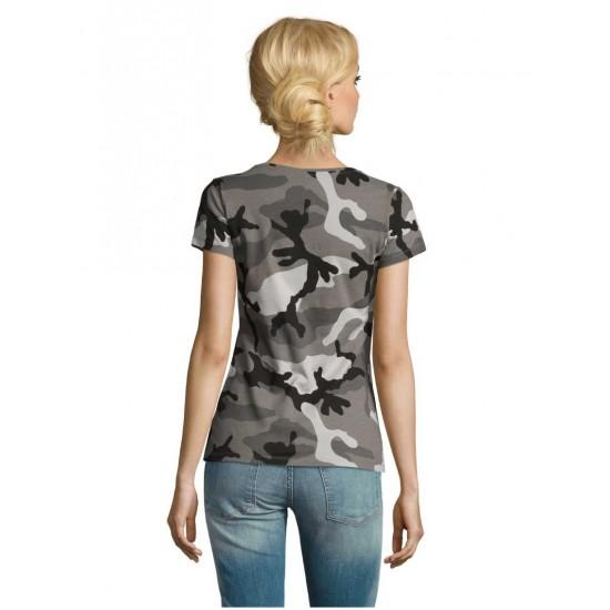 Camo Women moteriški marškinėliai